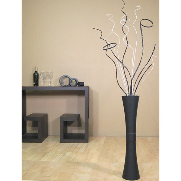 Silver Ting and Glitz with Fluted Floor Vase