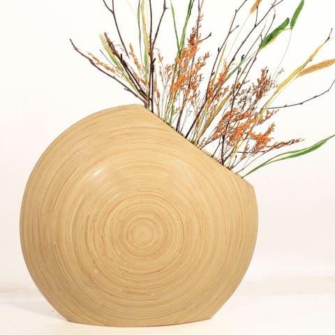 DIY Floral with Circle Bamboo Vase