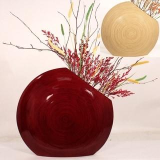 Cala Lillies in Circle Bamboo Vase