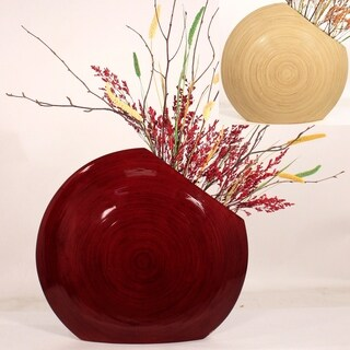 Cala Lillies in Circle Bamboo Vase