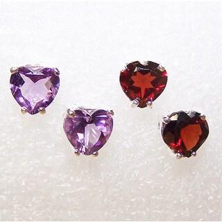 Handmade Sterling Silver 'Love' Multi-gemstone Earrings (India)