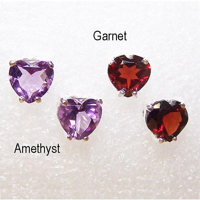 Sterling Silver 'Love' Multi-gemstone Earrings (India)