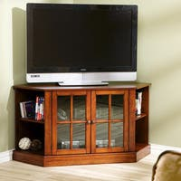 Harper Blvd Crescent Walnut Corner TV Stand