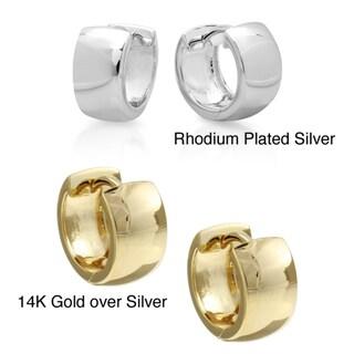 Sterling Essentials 14k Gold or Rhodium-plated Sterling Silver Hoop Earrings