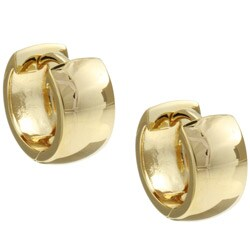 14k Gold or Rhodium-plated Sterling Silver Hoop Earrings