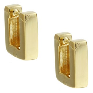 14K Gold over Sterling Silver Square Hoop Earrings