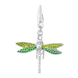 Sterling Silver Enamel Dragon Fly Charm