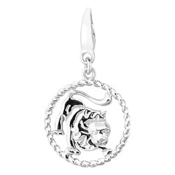 Sterling Silver Rope Zodiac Leo Charm