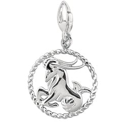 Sterling Silver 'Capricorn' Charm