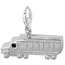 1940s Tanker Truck Charm Sterling Silver Tanker Truck Charm Sterling Silver Truck Charm Sterling Silver Charm for Charm Bracelets