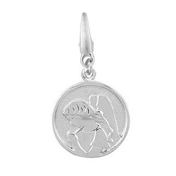 Sterling Silver 'Angel' Disc Charm