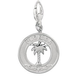 Sterling Silver 'Florida Palm Tree' Charm