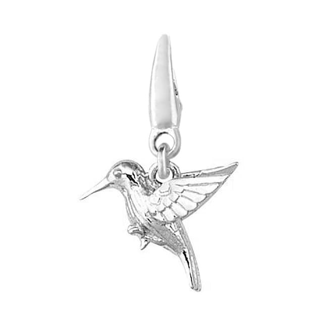 Fine Sterling Silver 11-millimeter Small Detailed Hummingbird Charm