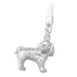 Sterling Silver Cockapoo Dog Charm