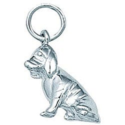 Sterling Silver Bloodhound Dog Charm