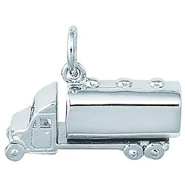 Sterling Silver Petrol Fuel Truck Charm
