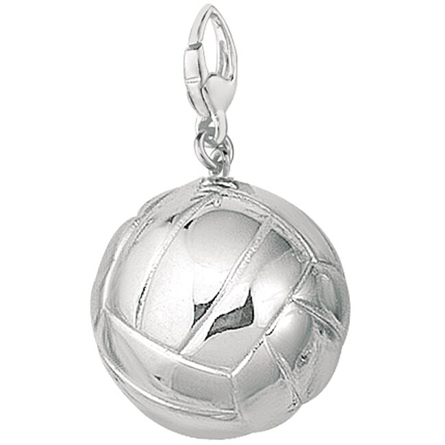 Sterling Silver 3-D Volly Ball Charm