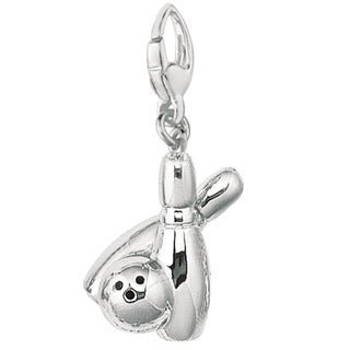 Sterling Silver Bowling Pins and Ball Charm