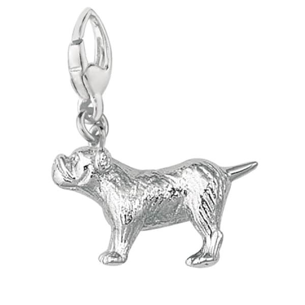 Sterling Silver Bulldog Charm