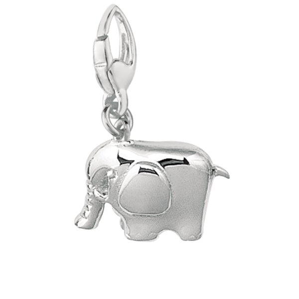 Sterling Silver Whimsical Elephant Charm