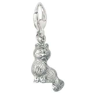 Sterling Silver Persian Cat Charm