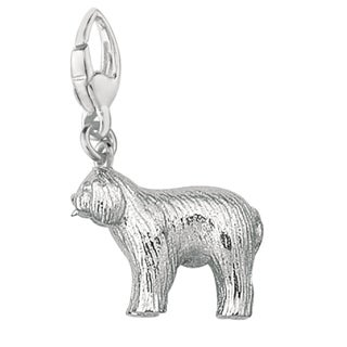 Sterling Silver Old English Sheep Dog Charm
