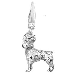 Sterling Silver Boston Terrier Charm