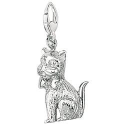 Sterling Silver Whimsical Kitten Charm