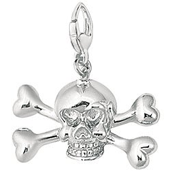 Sterling Silver Skull and Crossbones Charm