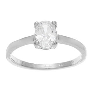 Sterling Essentials Sterling Silver Cubic Zirconia Engagement Ring