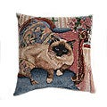 Chaise Cat Tapestry Throw Pillows (Set of 2)