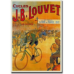 'JB Louvet' Framed Canvas Art