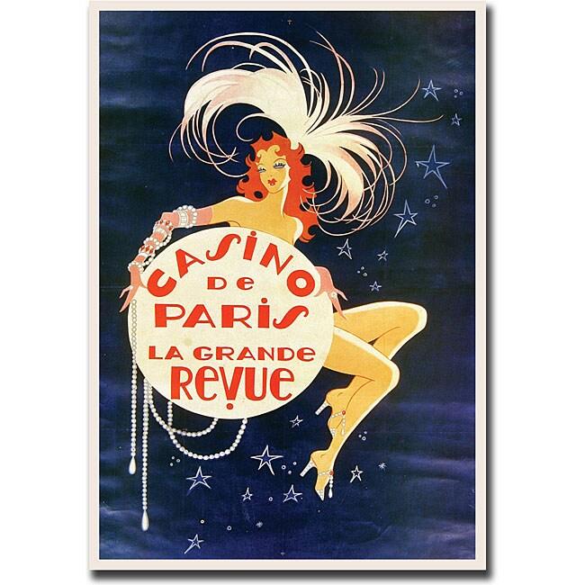 'Casino de Paris' Gallery Wrapped Canvas Art