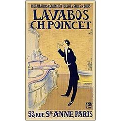'Lavabos CH. Ponchet' Framed Canvas Art