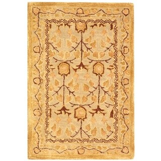 Safavieh Handmade Anatolia Oriental Ivory/ Gold Hand-spun Wool Rug (2' x 3')