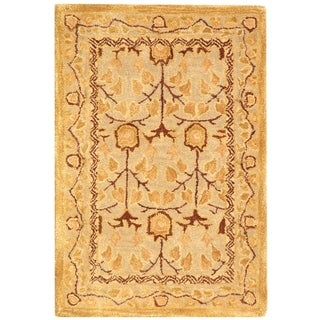 Safavieh Handmade Anatolia Elisabeth Traditional Oriental Wool Rug (2 x 3 - Ivory/Gold)