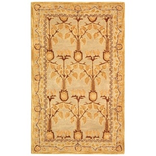 Safavieh Handmade Anatolia Elisabeth Traditional Oriental Wool Rug (3 x 5 - Ivory/Gold)