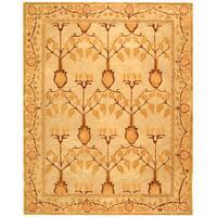 Safavieh Handmade Anatolia Oriental Ivory/ Gold Hand-spun Wool Rug - 8' x 10'