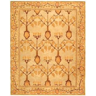 Safavieh Handmade Ancestral Tree Ivory/ Gold Wool Rug (9' x 12')