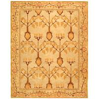 Safavieh Handmade Anatolia Oriental Traditional Ivory/ Gold Hand-spun Wool Rug - 9' x 12'