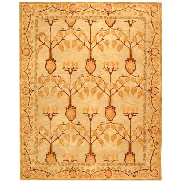 Safavieh Handmade Anatolia Oriental Ivory/ Gold Hand-spun Wool Rug (9'6 x 13'6) - 9'6 x 13'6