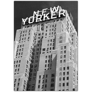 Yale Gurney 'New Yorker' Framed Canvas Art