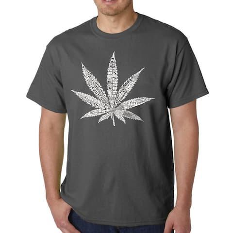 Los Angeles Pop Art Men's Marijuana Leaf T-shirt
