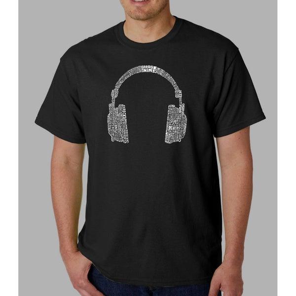 Los Angeles Pop Art Mens Headphones Short-Sleeve T-Shirt by  Best #1