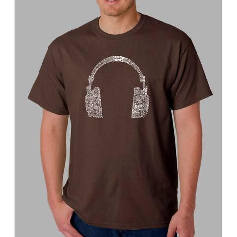 Los Angeles Pop Art Men's Headphones Short-Sleeve T-Shirt
