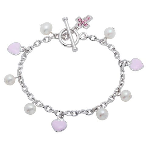 Sterling Silver Freshwater Pearl Child's Bracelet (6 Inch) - N/A