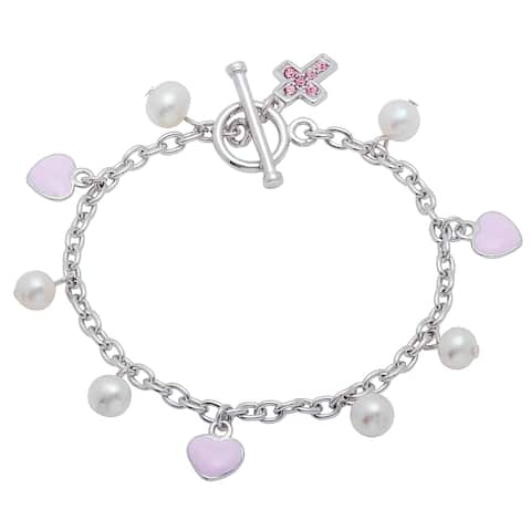 Sterling Silver Freshwater Pearl Child's Bracelet (6 Inch)