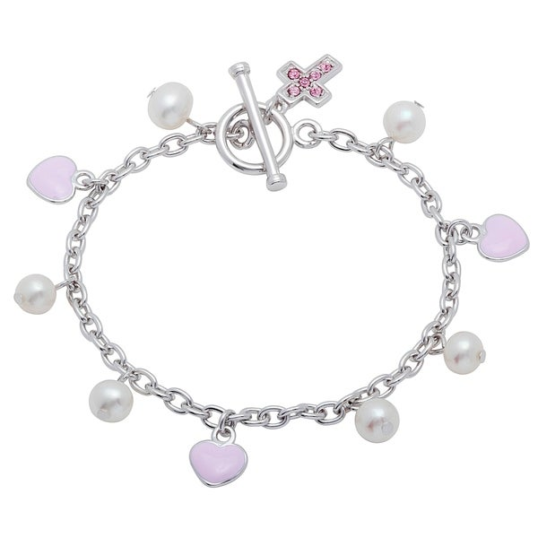 The Kiss Freshwater Pearl White /& Pink 925 Sterling Silver Adjustable Ring