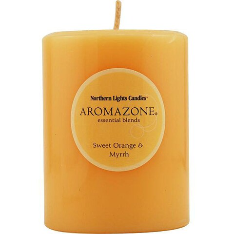 Sweet Orange and Myrrh Essential Blend 3x4-inch Pillar Candle