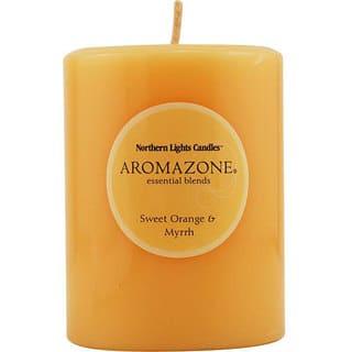 Sweet Orange and Myrrh Essential Blend 3x4-inch Pillar Candle|https://ak1.ostkcdn.com/images/products/3542509/P11605226.jpg?impolicy=medium